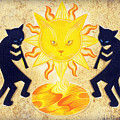 Solar Feline Entity by John Deecken