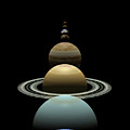 Solar System Planets In Alignment Around Sun by Nicholas Burningham