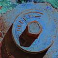 Solarized Rusty Fire Hydrant by Gary Sibio