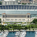Soldier Field Stadium In Chicago Aerial Photo by David Oppenheimer