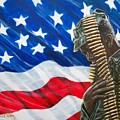 Proudly Serving   American  Soldier - U.s.a. by Sigrid Tune