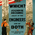 Soldiers Or Mechanic by Vintage Pix