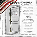 Soldier's Prayer For Sons  by Christina VanGinkel