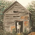 Solitaire Near Enterprise.  Solitary Horse Looking Out From Barn Door by Lynn ACourt