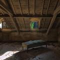 Solitary Bed Under The Roof  - Letto Solitario Sotto Il Tetto by Enrico Pelos
