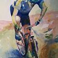 Solitary Biker by Maggie Clark
