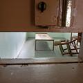 Solitary Confinement Cell Through Door Slat by Karen Foley