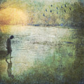 Solitary--walking In Water by Melissa D Johnston