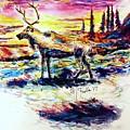 Solitude Caribou by Monique Faella
