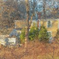 Solstice Morning Light On Colonial Home by Bill McEntee