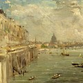 Somerset House Terrace From Waterloo Bridge by John Constable