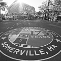 Somerville Ma Davis Square 175 Years Black And White by Toby McGuire
