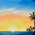 Sometimes I Wonder - Vertical Sunset by Gina De Gorna