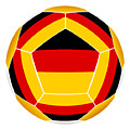 Soocer Ball With Germany Flag by Michal Boubin