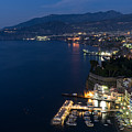 Sorrento Bay At Night by Ann Garrett