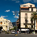 Sorrento Italy Piazza by Sally Weigand