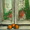 Sound Of Rain  Oil Painting by Natalja Picugina