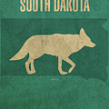 South Dakota State Facts Minimalist Movie Poster Art by Design Turnpike