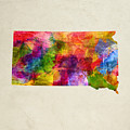 South Dakota State Map 02 by Aged Pixel