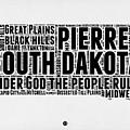 South Dakota Word Cloud 1 by Naxart Studio