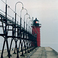 South Haven Light, Michigan by Kenneth Campbell