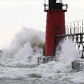 South Haven Lighthouse 3 by Mike Dickie