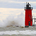 South Haven Lighthouse by Mike Dickie