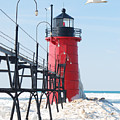 South Haven Pierhead Light by Michael Peychich
