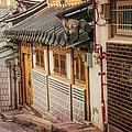 South Korean Hanok Street by Joan Carroll