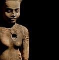 Southeast Asian Spiritual Statue - Cambodia by Louise Fahy