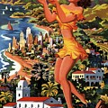 Southern California - United Air Lines - Retro Travel Poster - Vintage Poster by Studio Grafiikka