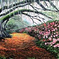 Southern Charm Oak And Azalea by Patricia L Davidson
