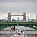Southwark Bridge And The Tower Bridge by Sam Garcia