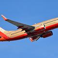 Southwest Boeing 737-7h4 N792sw Retro Gold Phoenix Sky Harbor January 21 2016 by Brian Lockett