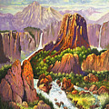 Southwest Mountain Floodwaters by Donn Kay