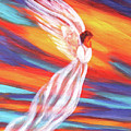 Southwest Sunset Angel by Laura Iverson