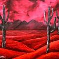 Southwestern Abstract Oil Painting by Derek Mccrea