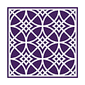 Southwestern Inspired With Border In Purple by Custom Home Fashions