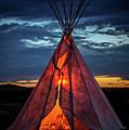 Southwestern Teepee Sunset by Enrique Navarro