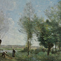 Souvenir Of Coubron by Jean-Baptiste-Camille Corot