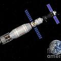 Soyuz Deep Space Explorer Docked Begins by Walter Myers