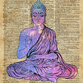 Space Buddha Dictionary Art by Anna W