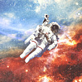 Space Cadet - Astronaut Collage by Dylan Murphy