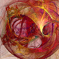 Space Demand Abstract Art by Karin Kuhlmann