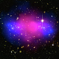 Space Image Galaxy Cluster Purple Blue Black by Matthias Hauser