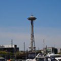 Space Needle From The Harbor by Donna Meadows