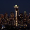 Space Needle Night by Gene Ritchhart