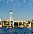 Space Needle Sailboats by Tom Dowd