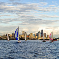 Space Needle Twilight Sail by Tom Dowd