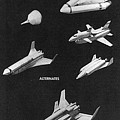 Space Shuttle Concepts Illustration Showing Late 1960s Designs Part Of The Phase A  A Prime Process by R Muirhead Art